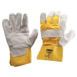 PRO Yellow/Grey Leather Gloves 940GY