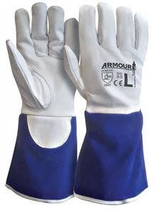 ARMOUR TIG GLOVE KEVLAR LINED BLUE LEATHER XL
