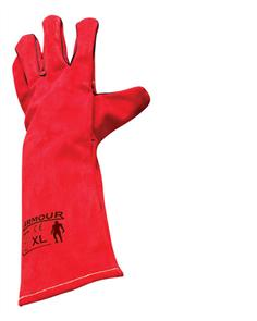 ARMOUR WELDERS RED LEFT HAND GLOVES