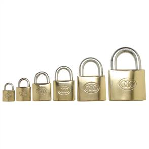PPS BRASS PADLOCK 3 KEY 38mm