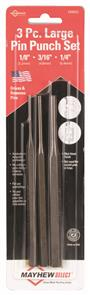 MAYHEW #89052 Long Pin Punch Set 3PC