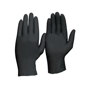 NITRILE Gloves P/Free Black (L) 100pk