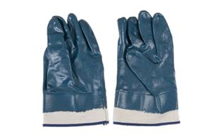 ARMOUR NITRILE GLOVES BLUE WITH CANVAS CUFF