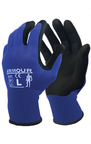 ARMOUR BLACK FOAM NITRILE GLOVE 2XL