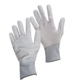 ARMOUR BRANT Gloves, Pu Flex White/Grey Lg 10