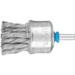 PFERD Shank Mounted End Brush, Knotted PBG 3028/6 INOX 0,35