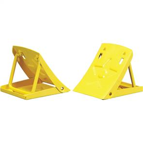 FOLDING METAL WHEEL CHOCKS (PAIR) PE6040