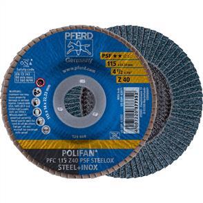 PFERD Polifan Flap Disc PFC 115mm Z 40 PSF