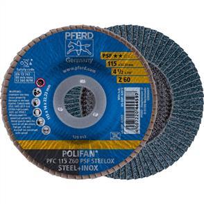 PFERD Polifan Flap Disc PFC 115mm Z 60 PSF