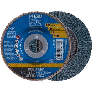 PFERD Polifan Flap Disc PFC 115mm Z 80 PSF