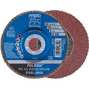 PFERD Polifan Flap Disc PFC 125mm A120 SG