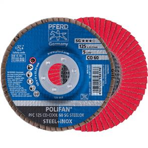 PFERD Polifan Flap Disc PFC 125mm CO 60 SGP- COOL