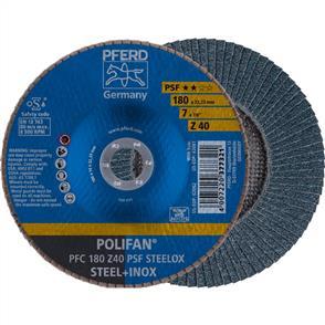 PFERD Polifan Flap Disc PFC 180mm Z 40 PSF