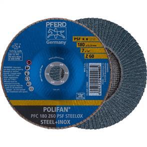 PFERD Polifan Flap Disc PFC 180mm Z 60 PSF