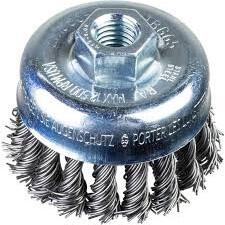 PFERD Threaded Cup Brush, Knotted POS TBG 65 M10 x1.50 0.35
