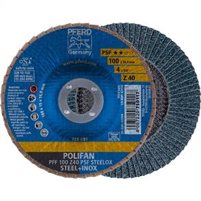PFERD Polifan Flap Disc PFF 100mm Z 40 PSF