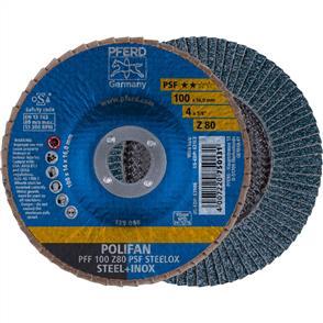 PFERD Polifan Flap Disc PFF 100mm Z 80 PSF