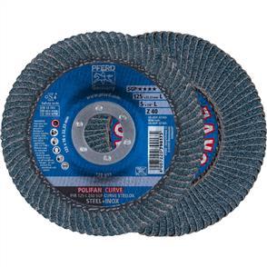 PFERD Polifan Flap Disc PFR 125mm Z 40 SGP CURVE L