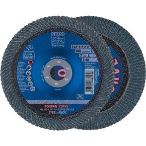 PFERD Polifan Flap Disc PFR 180mm Z 40 SGP CURVE L