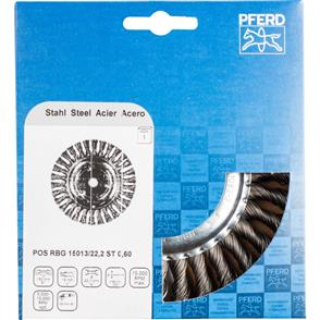 PFERD Wheel Brush, Knotted POS RBG 15013/22,2 STEEL 0,60