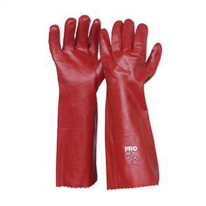 PVC Red 45cm Gloves
