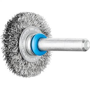 PFERD Shank Mounted Wheel Brush, Crimped RBU 3006/6 INOX 0,20