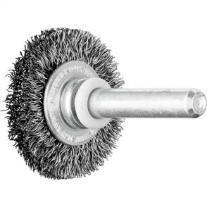 PFERD Shank Mounted Wheel Brush, Crimped RBU 3006/6 STEEL 0,20