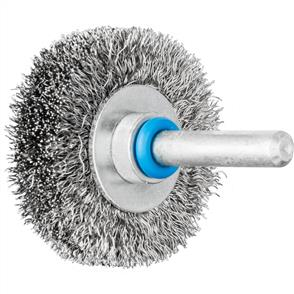 PFERD Shank Mounted Wheel Brush, Crimped RBU 4009/6 INOX 0,20