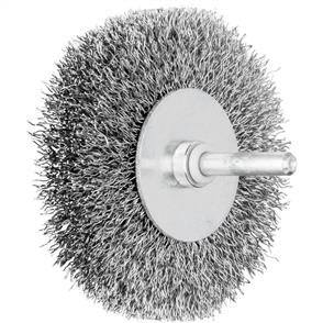 PFERD Shank Mounted Wheel Brush, Crimped RBU 8015/6 STEEL 0,30