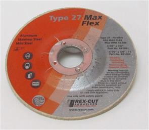 REXCUT Flexible Grinding Disc T27  4 1/2x7/8 MAX FLEX A54