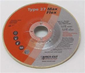REXCUT Flexible Grinding Disc T27  5x7/8 MAX FLEX A54