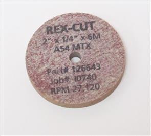 REXCUT Grinding Wheel T1 100x 6.0x 6mm A 54MTX
