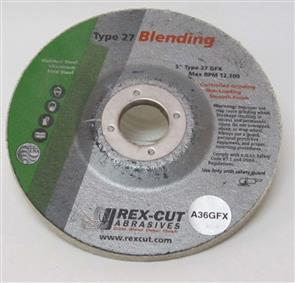 REXCUT D/C Grinding Disc T27 125x4.8x22mm A36 GFX