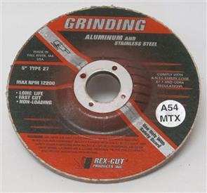 REXCUT D/C Grinding Disc T27 125x6.0x22mm A54 MTX