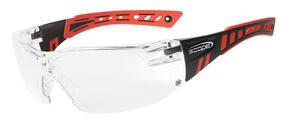 Scope Speed Glasses Red/Blk Titanium Clear Lense  360RC