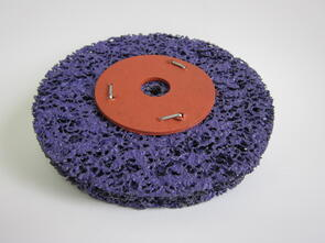 SAN Strip & Clean Disc Purple 200mm Washered