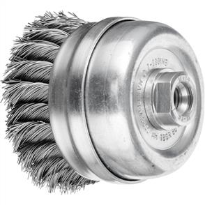 PFERD Threaded Cup Brush, Knotted TBGR 80/M14 Steel 0,50