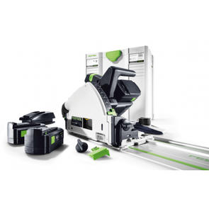FESTOOL 160mm CORDLESS PLUNGE SAW SET RAIL, 2 BATTERIES, AND CHARGER