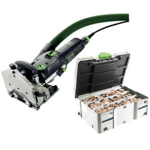 FESTOOL DF500 Q PLUS DOMINO SET C/W ASSORTMENT