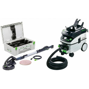 FESTOOL PLANEX LONG REACH SANDER SET LHS 225 WITH CT AUTO CLEAN