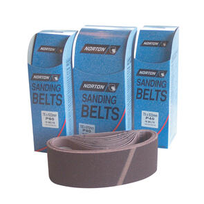 NORTON CLOTH BELT 75mm(W) x 610mm(L) (100 GRIT) per box